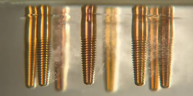 Chemical etching dental implants